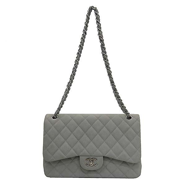 Chanel(샤넬) A58600 소프트 캐비어스킨 라이트 그레이 컬러 클래식 점보 은장 체인 숄더백 [부산센텀본점] 이미지2 - 고이비토 중고명품