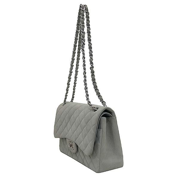 Chanel(샤넬) A58600 소프트 캐비어스킨 라이트 그레이 컬러 클래식 점보 은장 체인 숄더백 [부산센텀본점] 이미지3 - 고이비토 중고명품