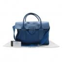 Prada(프라다) BN2124 COBALTO (코발트 블루) 카나파 레더 패브릭 혼방 금장 로고 장식 토트백 [인천점]