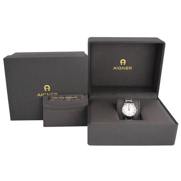 Aigner(아이그너) A24100 은장 라운드 쿼츠 여성용 시계 [대구반월당본점]
