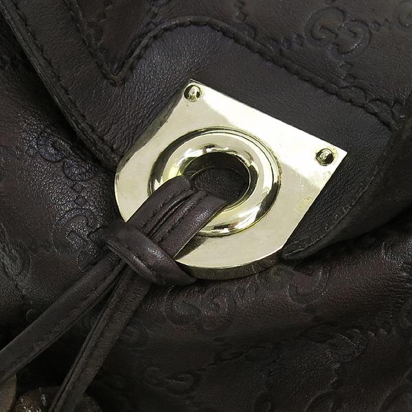 Gucci(구찌) 177139 GG로고 시마 에스프레소 컬러 인디 뱀부 태슬장식 토트백 + 숄더 스트랩 [강남본점] 이미지3 - 고이비토 중고명품