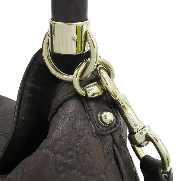 Gucci(구찌) 177139 GG로고 시마 에스프레소 컬러 인디 뱀부 태슬장식 토트백 + 숄더 스트랩 [강남본점] 이미지4 - 고이비토 중고명품