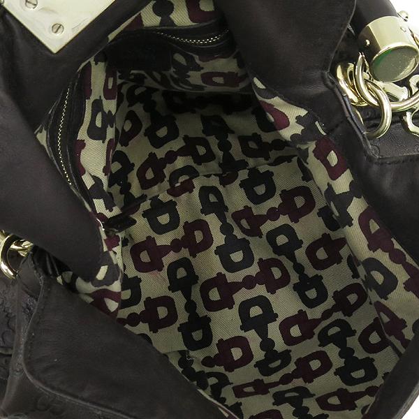 Gucci(구찌) 177139 GG로고 시마 에스프레소 컬러 인디 뱀부 태슬장식 토트백 + 숄더 스트랩 [강남본점] 이미지5 - 고이비토 중고명품