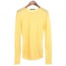 Balmain(발망) 100% 비스코사 옐로우 컬러 여성용 티셔츠 [강남본점]