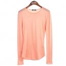 Balmain(발망) BM3A441P19 100% 비스코스 코랄 컬러 여성용 긴팔 티셔츠 [강남본점]