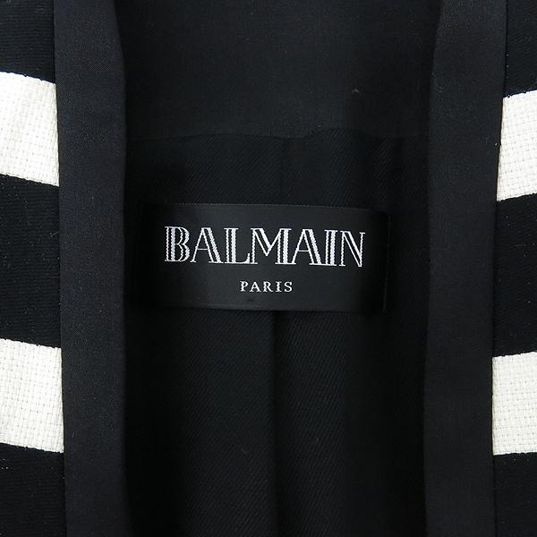 Balmain(발망) BM3A115P55 화이트 블랙 스트라이프 여성용 자켓 [강남본점] 이미지5 - 고이비토 중고명품