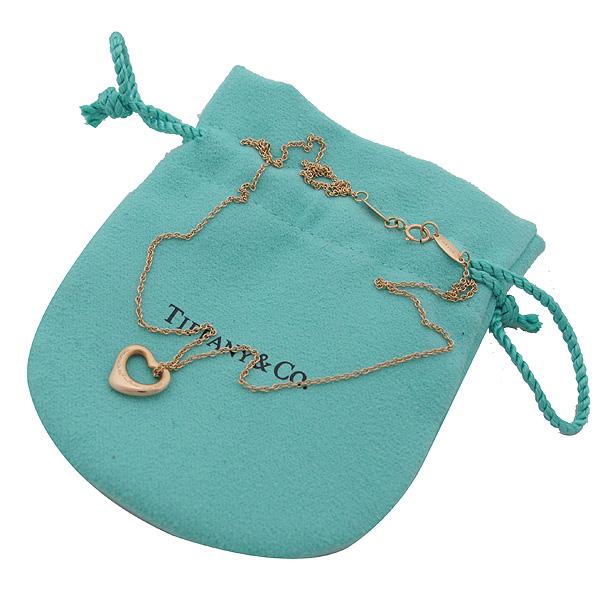 Tiffany(티파니) 18K(750) 옐로우 골드 Elsa Peretti(엘사퍼레티) 오픈 하트 목걸이 [인천점]