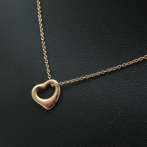 Tiffany(티파니) 18K(750) 옐로우 골드 Elsa Peretti(엘사퍼레티) 오픈 하트 목걸이 [인천점] 이미지4 - 고이비토 중고명품