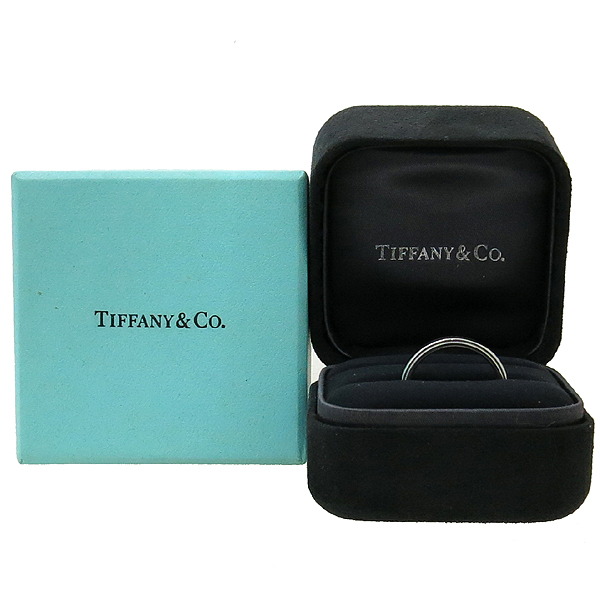 Tiffany(티파니) PT950(플래티늄) 밀그레인 4MM 반지 - 21호