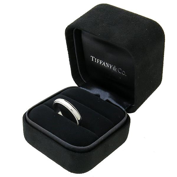Tiffany(티파니) PT950(플래티늄) 밀그레인 4MM 반지 - 21호 이미지2 - 고이비토 중고명품