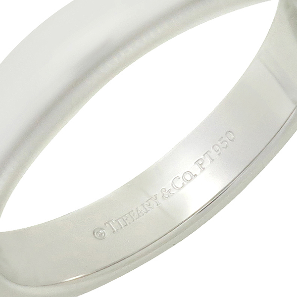 Tiffany(티파니) PT950(플래티늄) 밀그레인 4MM 반지 - 21호 이미지4 - 고이비토 중고명품