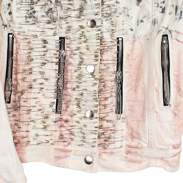Balmain(발망) BM1B314B41 클립 장식 화이트 컬러 여성용 데님 자켓 [강남본점] 이미지3 - 고이비토 중고명품