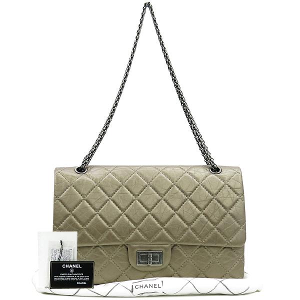 Chanel(샤넬) A37590 2.55 빈티지 골드 메탈릭 L사이즈 은장로고 체인 숄더백 [강남본점]