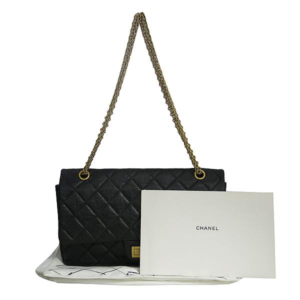 Chanel(샤넬) A37590Y04634 빈티지 블랙 2.55 L사이즈 금장 체인 숄더백 [동대문점]