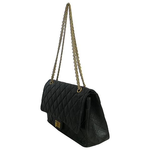 Chanel(샤넬) A37590Y04634 빈티지 블랙 2.55 L사이즈 금장 체인 숄더백 [동대문점] 이미지3 - 고이비토 중고명품