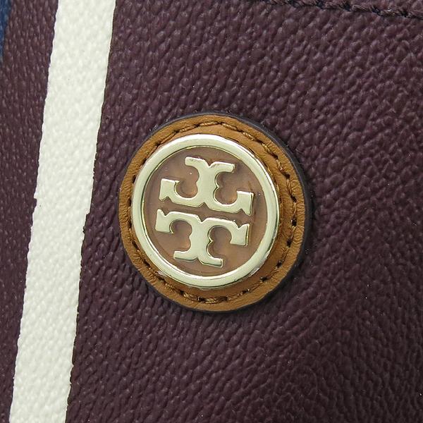 TORY BURCH(토리버치) 22159540 버건디 블루 화이트 멀티컬러 PVC 점보 쇼퍼 숄더백 [강남본점]