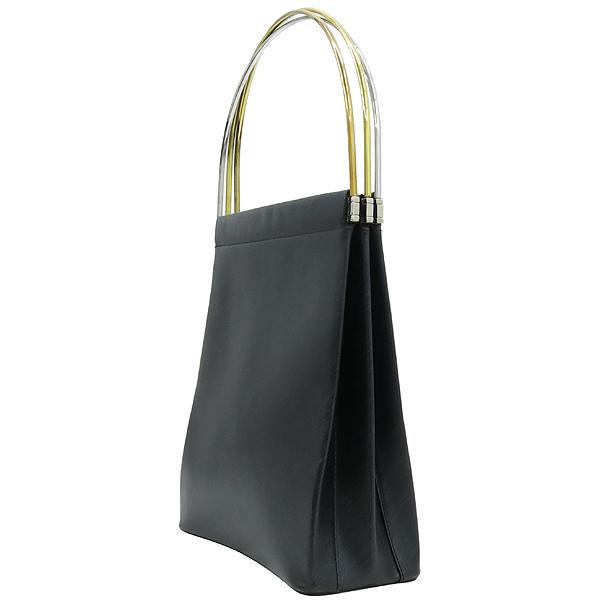 Cartier(까르띠에) 블랙 컬러 트리니티 삼색링 핸들 아코디언 토트백 [강남본점]