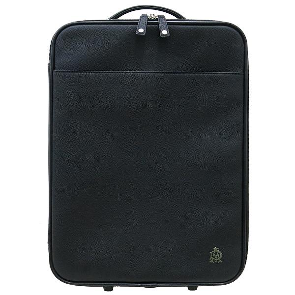 Dunhill(던힐) 블랙 컬러 레더 롤링 러기지 여행용 캐리어 가방 [강남본점]