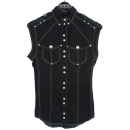 Balmain(발망) 블랙 컬러 커튼 스티치 메탈 버튼 견장 민소매 자켓 [강남본점]