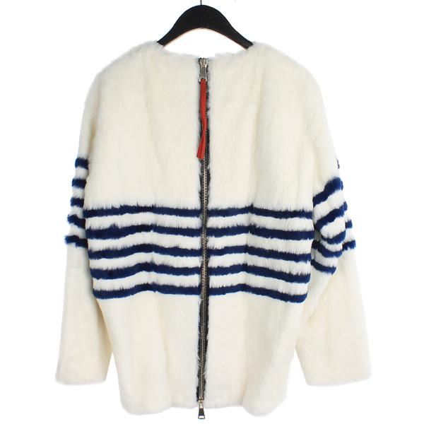 BYTE(바이트) Giuliana teso 100% 래빗 퍼 스트라이프 포인트 여성용 자켓 [강남본점] 이미지3 - 고이비토 중고명품