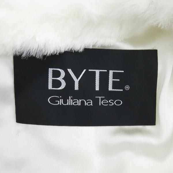 BYTE(바이트) Giuliana teso 100% 래빗 퍼 스트라이프 포인트 여성용 자켓 [강남본점] 이미지5 - 고이비토 중고명품
