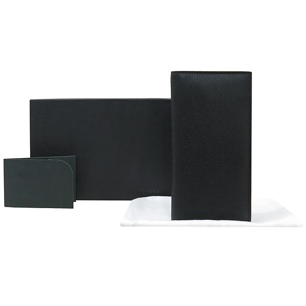 VALEXTRA(발렉스트라) V8L21 블랙컬러 버티칼 장지갑 [강남본점]