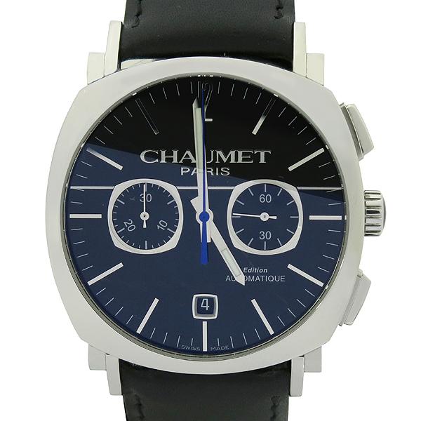 CHAUMET(쇼메) W11291-30F DANDY(댄디) 크로노그래프 오토매틱 가죽밴드 남성용 시계