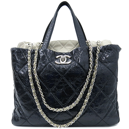 Chanel(샤넬) A47138Y06146 빈티지 블랙 퀼팅 포르투 벨로 은장 체인 2WAY [부산센텀본점]