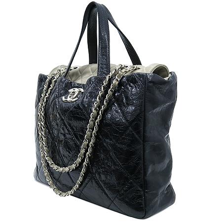 Chanel(샤넬) A47138Y06146 빈티지 블랙 퀼팅 포르투 벨로 은장 체인 2WAY [부산센텀본점] 이미지2 - 고이비토 중고명품