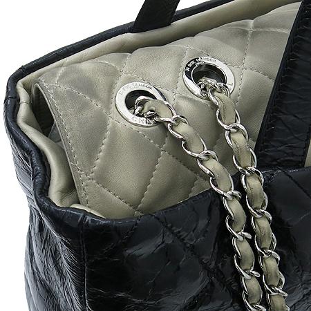 Chanel(샤넬) A47138Y06146 빈티지 블랙 퀼팅 포르투 벨로 은장 체인 2WAY [부산센텀본점] 이미지4 - 고이비토 중고명품