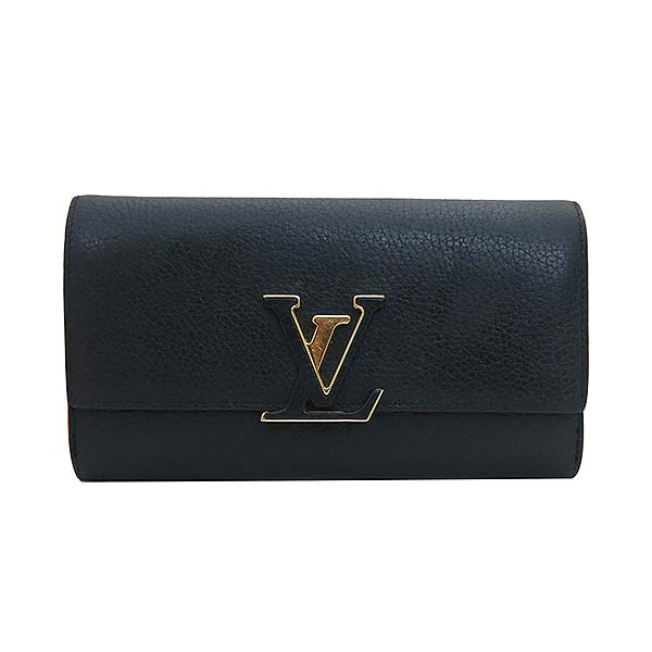 Louis Vuitton(루이비통) M61248 토뤼옹 블랙 Noir LV 시그니처  카푸신(카퓌신) 월릿 장지갑 [부산센텀본점] 이미지2 - 고이비토 중고명품
