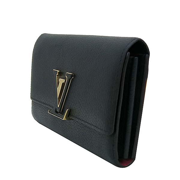 Louis Vuitton(루이비통) M61248 토뤼옹 블랙 Noir LV 시그니처  카푸신(카퓌신) 월릿 장지갑 [부산센텀본점] 이미지3 - 고이비토 중고명품