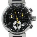 Louis Vuitton(루이비통) Q132G1 땅부르 블랙 크로노 러버밴드 여성용 시계[광주1]