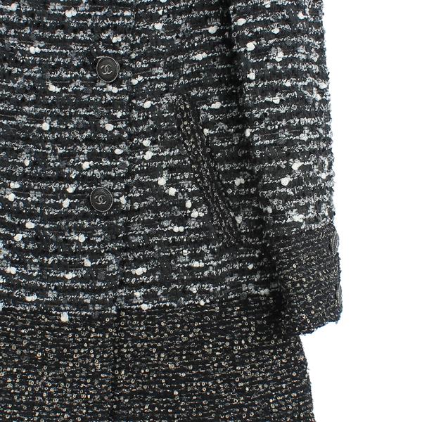 Chanel(샤넬) P41804 COCO로고 단추 트위드 더블 코트 [강남본점] 이미지3 - 고이비토 중고명품