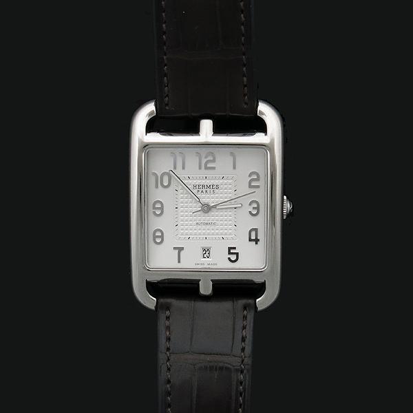 Hermes(에르메스) 신형 CD7.810 CAPE COD(케이프코드) 데이트 엘리게이터 밴드 스켈레톤 남성용 오토매틱 시계 [인천점] 이미지2 - 고이비토 중고명품