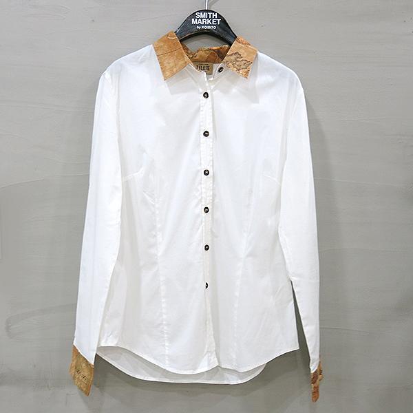 ALVIERO MARTINI(알비에로 마르티니) 화이트 면 혼방 여성용 셔츠 [부산센텀본점]