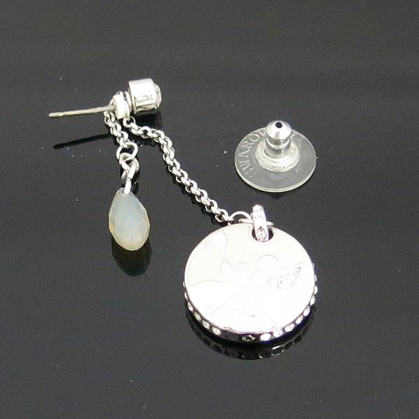 Swarovski(스와로브스키) 은장 라운드 팬던트 귀걸이 [동대문점] 이미지2 - 고이비토 중고명품