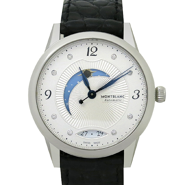 Montblanc(몽블랑) 114730 BOHEME DAY&NIGHT 문페이즈 10포인트 다이아 오토매틱 가죽밴드 여성용 시계 [강남본점]
