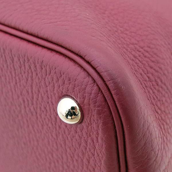 Hermes(에르메스) 볼리드 31 토고 버건디 컬러 토트백 + 숄더 스트랩 2WAY 정품 트윌리 스카프 SET [부산서면롯데점] 이미지5 - 고이비토 중고명품