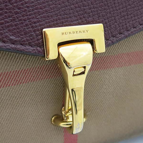 Burberry(버버리) 3980828 하우스 체크 버건디 레더 크로스백 [부산센텀본점] 이미지4 - 고이비토 중고명품
