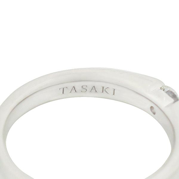 TASAKI(다사끼) F1672 이노센트 PT950 플래티늄 골드 0.12CT 1포인트 다이아 셋팅 웨딩밴드 반지 - 9호 이미지4 - 고이비토 중고명품