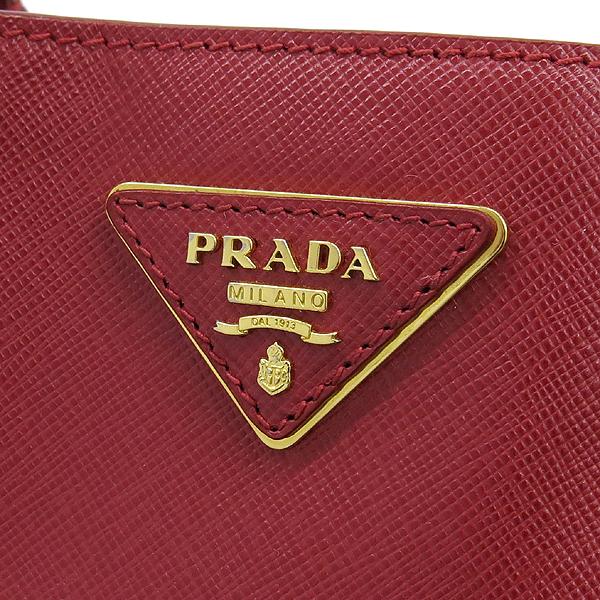 Prada(프라다) BN1844 금장 로고 장식 레드 사피아노 럭스 토트백 [강남본점] 이미지4 - 고이비토 중고명품