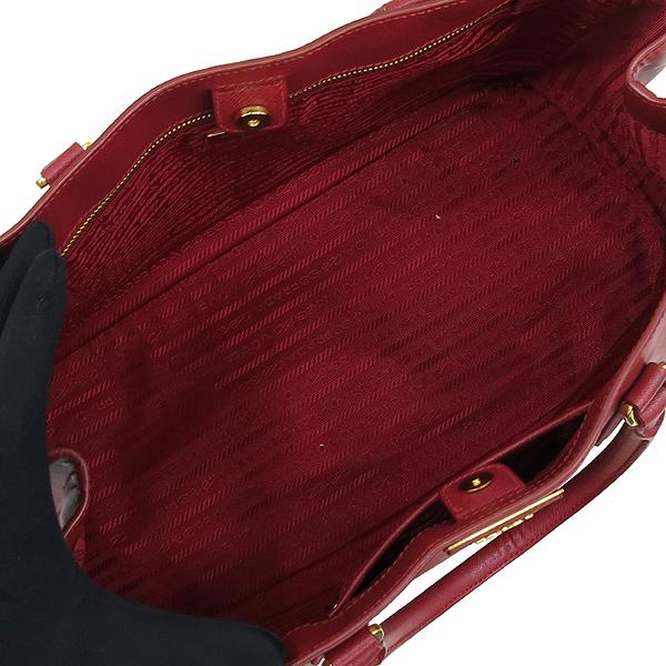 Prada(프라다) BN1844 금장 로고 장식 레드 사피아노 럭스 토트백 [강남본점] 이미지6 - 고이비토 중고명품