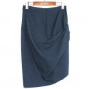 Vivienne_Westwood (비비안웨스트우드) 모 100% 네이비 컬러 셔링 장식 여성용 스커트 [강남본점]