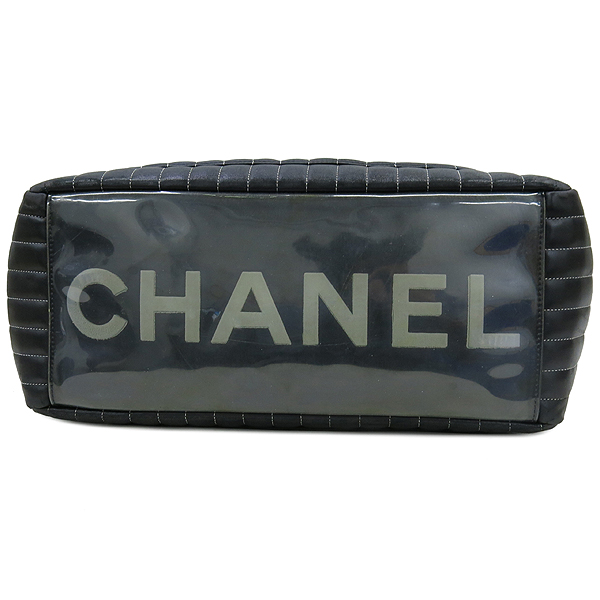 Chanel(샤넬) 스트라이프 스티치 블랙 램스킨 체인 쇼퍼 숄더백 [대구동성로점] 이미지4 - 고이비토 중고명품