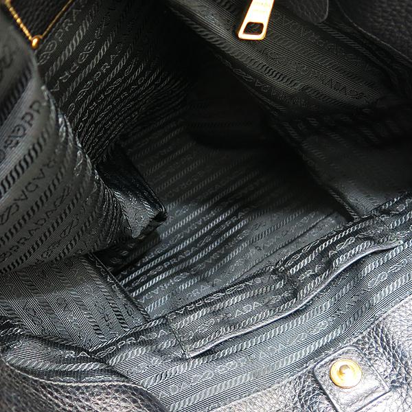 Prada(프라다) BN2317 금장 로고 장식 블랙 레더 토트백 + 숄더 스트랩 [인천점] 이미지4 - 고이비토 중고명품