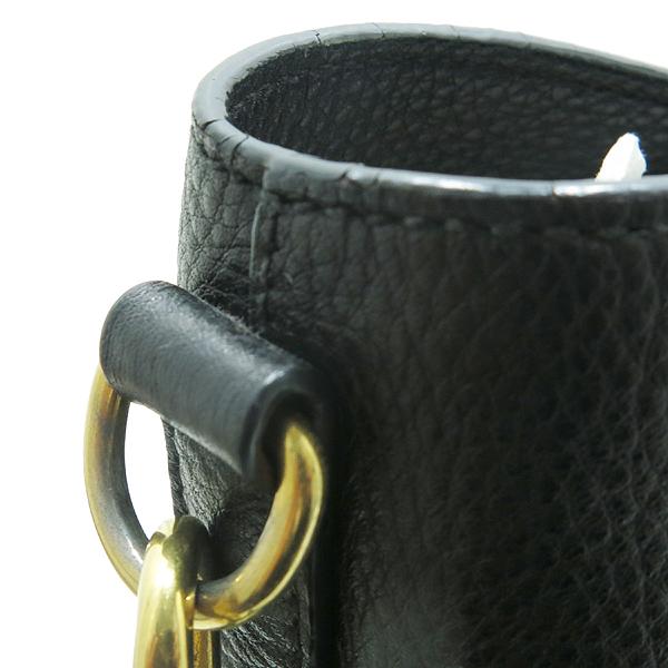 Prada(프라다) BN2317 금장 로고 장식 블랙 레더 토트백 + 숄더 스트랩 [인천점] 이미지6 - 고이비토 중고명품