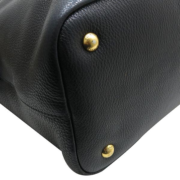 Prada(프라다) BN2317 금장 로고 장식 블랙 레더 토트백 + 숄더 스트랩 [인천점] 이미지7 - 고이비토 중고명품