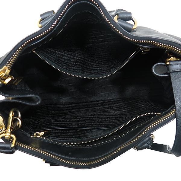 Prada(프라다) 블랙 사피아노 측면 삼각 로고 장식 2WAY [인천점] 이미지5 - 고이비토 중고명품