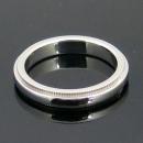 Tiffany(티파니) 12636016 PT950 (플래티늄) 밀그레인 3MM 반지-6.5호  [대전본점]
